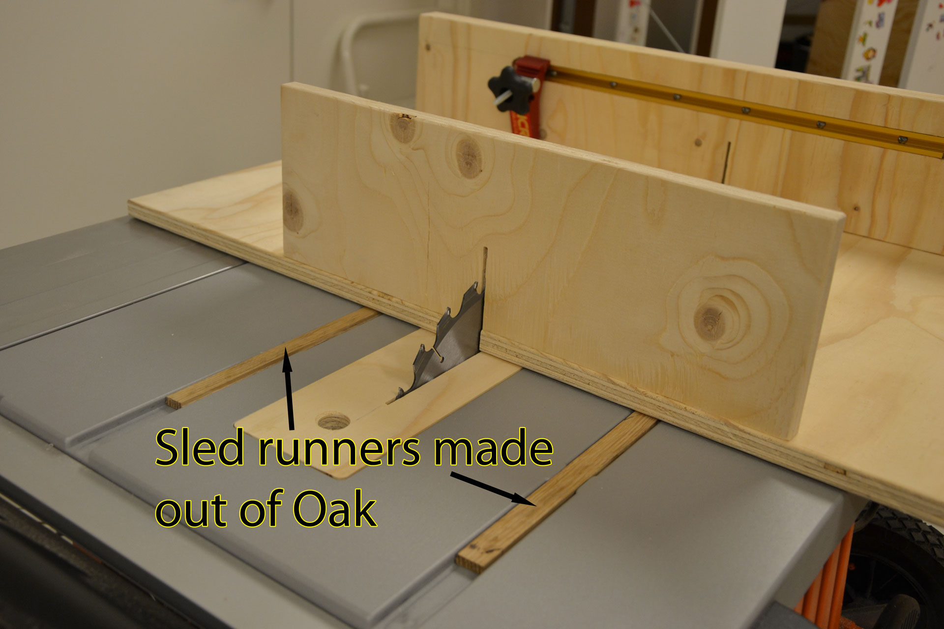 Oak sled runners